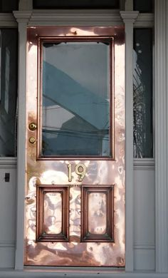 What?!! The Patina on this #Copper #Door gives it a life of it's ow!! Oh, my, love this #Door.