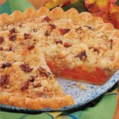 Dutch Apricot Pie~This pie received some bad reviews yet was contest winning. I will work with it when have time to make it yummy-we love apricot pie! (TOH)