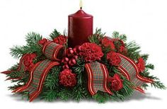 Christmas Centerpieces With Candles | Christmas CenterPiece - Candles Photo (18315061) - Fanpop fanclubs