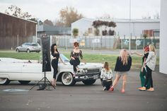 Miss Honey Bee & Ginger rockabilly photoshoot BTS by Tony Mckay Photography #pinup #pinupgirls #rockabilly