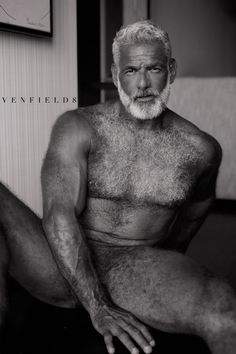Mature grey haired men naked