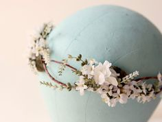 Flower crown Woodland wedding accessory Bridal hair by whichgoose,