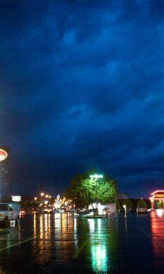 Rolling storm MidTown Springfield, Missouri