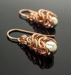 Kit - Earrings - 14kt Yellow Or Rose Gold Filled Chainmaille Earring Kit - Graduated Box Weave