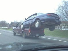Redneck tow-how did he get it up there?