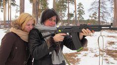 Anna, io e il kalasnikov ;)