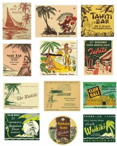 Tiki Club Vintage Matchbook Covers