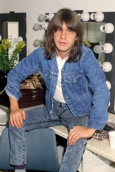 Malcolm Young of AC/DC backstage at Wembley Arena.....We miss you Malcolm
