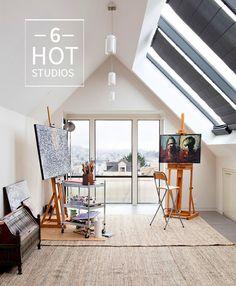 6 HOT Art Studio Spaces  Hillary Butler {Fine Art}: Monday Mornings: Hot Artist Studio Spaces