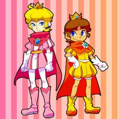Genderswapped Peach and Daisy