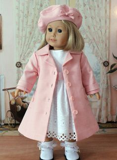White Eyelet Dress for American Girl Doll by BabiesArtUs on Etsy, $40.00
