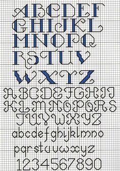 Photo only, Cross stitch alphabet. love to collect alphabet patterns Cross Stitch Letter Patterns, Cross Stitch Letters, Cross Stitch Borders, Cross Stitch Charts, Cross Stitch Designs, Cross Stitching, Cross Stitch Embroidery, Stitch Patterns, Cross Stitch Numbers