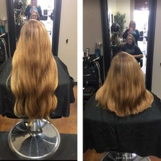 Before and After Chopping Shaved Hair Women, Long Hair Cuts, Beautiful Long Hair, About Hair, Cut Off, Hairdresser, Shaving, Ponytail, Short Hair Styles