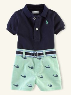Polo & Schiffli Short Set - Layette Outfits & Gift Sets - RalphLauren.com