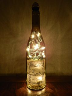 Cupcake Wine Golden Lighted Bottle With Cupcake Cork Wine Cupcakes, Cupcake Wine, Wedding Pins, Dream Wedding, Wedding Ideas, Wine Decor, Wedding Decorations, Table Decorations, Bottle Lights