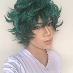 Although my face usually works best for the cool/quiet type I really wanted to give Deku a try ! He's such a good hearted boy. I'm sure he'll be # 1 Hero !! Swipe for the many faces of #midoriyaizuku !! Thank you @a_smile_and_a_song for letting me borrow your wig ✨ And @aobittybaby for teaching me how to do freckles in a tiny bathroom in Harajuku #bnhacosplay Deku Cosplay, Cosplay Wigs, Type I, Many Faces, Wig Styles, Freckles, My Hero Academia, The Borrowers, Harajuku