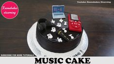 music theme birthday cake with ipod,headphones,mic,laptop,music notes decorating tutorial classes Cake Decorating Designs, Cake Decorating For Beginners, Cake Decorating Classes, Easy Cake Decorating, Birthday Cake Decorating, Decorating Ideas, Animal Birthday Cakes, Frozen Birthday Cake, Birthday Cakes For Teens
