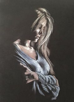 Explore amazing art and photography and share your own visual inspiration! Black Paper Drawing, Pastel Drawing, Art Sketches, Art Drawings, Soft Pastel Art, Pastel Portraits, Painted Ladies, Woman Painting, Portrait Art