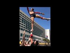 Unbelievable cheerleading trick compilation - YouTube
