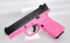 """ISSC M22 Pink / Black .22 LR. M111005. The M22 from ISSC is an Glock-style, Austrian-made .22 LR range pistol designed to handle and perform like a defensive handgun. Great for plinking or training, this pistol features five safety mechanisms, a Weaver-style accessory rail, adjustable rear sight, and Lothar Walther match barrel. Ti-clad finish protects the firearm from rain and chemicals. 10+1 capacity of .22 LR. 4"""" barrel. 2.7 oz. [New in Box] $339.99"""