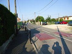 L'emplacement de l'ancienne gare de Guignes-Ville