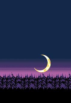 8bit night sky