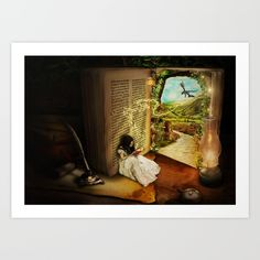 The Book Of Secrets Art Print