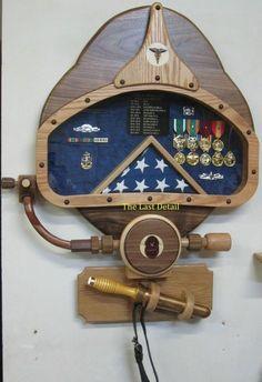 MK 37 Dive Helmet/Navy Diver Shadow Box