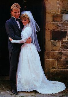 Favourite TV shows - Scott and Charlene's wedding Celebrity Wedding Dresses, Wedding Dresses Photos, Celebrity Weddings, Wedding Gowns, Wedding Movies, Wedding Couples, Wedding Things, Wedding Blog, Famous Couples