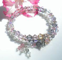 #Swarovski Crystal Summer Memory #Bracelet by #MagdaleneJewels @magdalenejewels