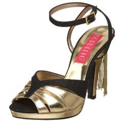 Bordello by Pleaser Women's Siren-05G Sandal,Black Glitter/Gold Polyurethane,8 M US (Apparel)  http://www.amazon.com/dp/B0028TU2H2/?tag=goandtalk-20  B0028TU2H2