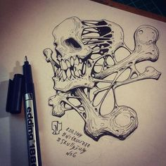 Creative skull illustration made by Russian illustrator artist Andrey Pridybaylo. The Skull design illustration is a part of series entitled Skully July Graffiti Art, Graffiti Drawing, Arte Dope, Dope Art, Airbrush Art, 4 Tattoo, Yakuza Tattoo, Shetland, Graffiti Characters