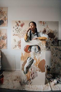 Girl Artist, Painter Artist, Art And Illustration, Painter Photography, Artist Branding, Artist Aesthetic, Guache, Art Plastique, Art Studios