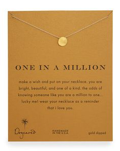 One in a Million Gold-Dipped Necklace by Dogeared at Neiman Marcus.