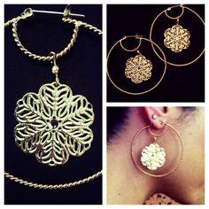 Flower petal earrings!