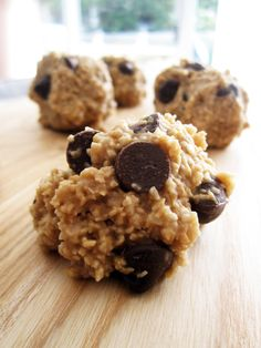 Almost Raw Cookie Dough Balls - They're vegan and gluten-free