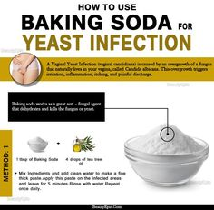 Yeast infection is a common condition that mostly affects the genitals, mouth, throat & intestines. Here how you can use baking soda for yeast infection Banana Benefits, Matcha Benefits, Coconut Health Benefits, Bath For Yeast Infection, Yeast Infection Treatment, Herbal Remedies, Home Remedies, Baking Soda Bath, Candida Albicans