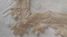 Antique Victorian Lace Handkerchief Edging Trim For Project Tambour Needlelace by TheGatheringVintage on Etsy