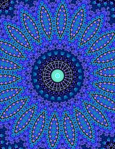 The BEST colour of allll the colours ❤ beautiful in blue . Love Blue, Blue Green, Blue And White, Art Fractal, Le Grand Bleu, Motifs Textiles, Art Furniture, Something Blue, Sacred Geometry