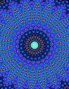 Mandala bleu