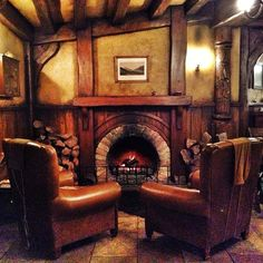 Now this is what a smoking lounge should look like    A roaring fire inside the Green Dragon. by Yes to Adventure on Flickr.
