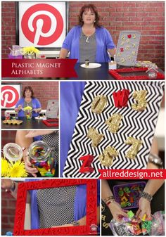 How to alter plastic letter magnets by painting, glittering and just plain having fun with plastic, magnet alphabets. How you can create faux stainless steel alphabets and more. #mycraftchannel #inspiredbypinterest @Lori Allred {allreddesign.net}  #plasticletters