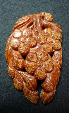 Amber pendant, open work, Liao Dynasty 11th-13th c.