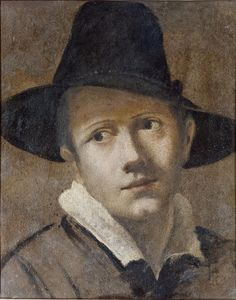 Copotain: High crowned, narrow brimmed slightly conical hat worn by men and women sometimes spelled capotain. (Pilgrim hat)