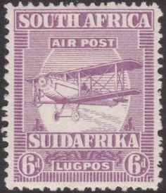 Forged stamps of South Africa - 1925 Airmails. Stamp Collection Value, Union Of South Africa, Old Signs, Modern History, Stamp Collecting, Airmail, Vintage Signs, Postage Stamps, Poster Prints