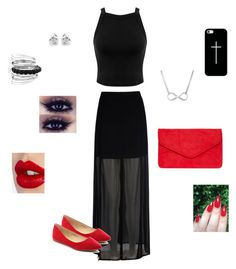 """""""Date with bae"""" by gymnast132 ❤ liked on Polyvore featuring Miss Selfridge, Mela Loves London, Georgini, Avenue, Bella Marie, Dorothy Perkins, Charlotte Tilbury and Casetify"""