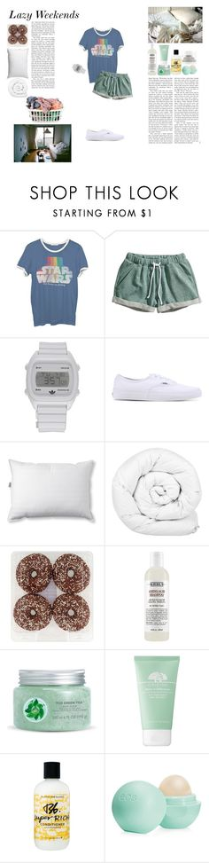 """""""Lazy Weekends"""" by silly-stegosaurus ❤ liked on Polyvore featuring Junk Food Clothing, H&M, adidas, Vans, L.L.Bean, Brinkhaus, Fuji, Origins, Bumble and bumble and Laundry"""