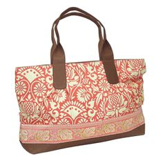 I love this! Amy Butler for Kalencom Abina Tote Sari Flowers Tomato