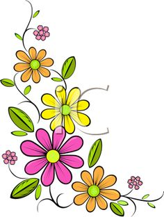 Discover thousands of images about Royalty Free Daisy Clip art, Flower Clipart Free Clipart Images, Royalty Free Clipart, Hand Embroidery Designs, Embroidery Patterns, Flower Doodles, Fabric Painting, Easy Drawings, Doodle Art, Painted Rocks