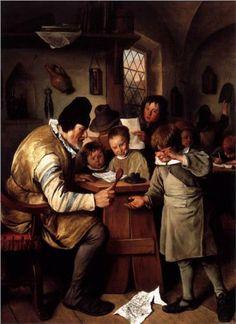 Jan Havickszoon Steen (Leiden 1626 – Leiden 1679) The Schoolmaster